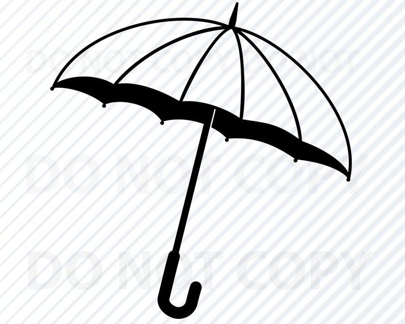 Svg file for cricut. Clipart umbrella real