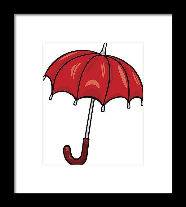 Clip art cartoon illustration. Clipart umbrella red object