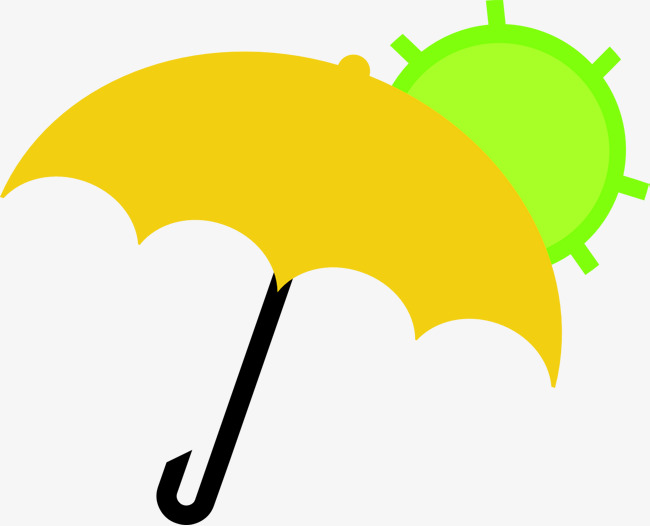 Clipart umbrella simple umbrella. Yellow decorative pattern