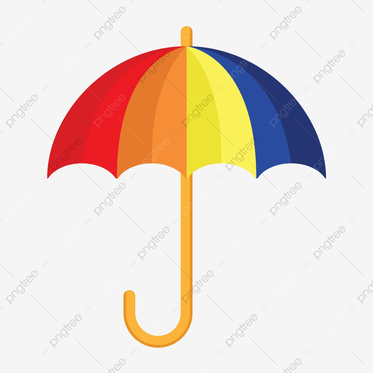 Clipart umbrella simple umbrella. Color cartoon gradient png