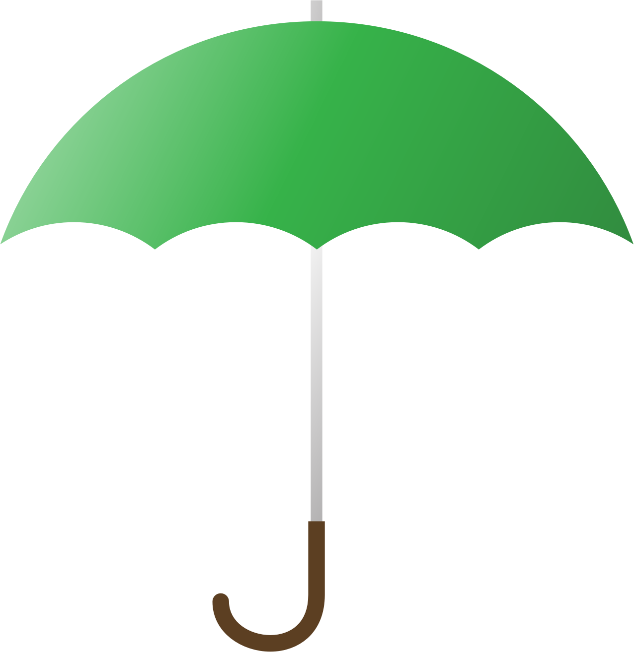 Clipart umbrella simple umbrella. Green big image png