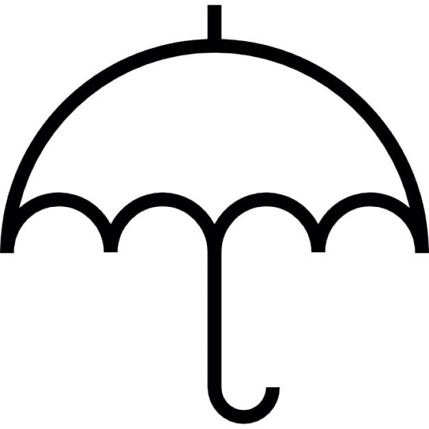 Clipart umbrella small umbrella. Free outline download clip