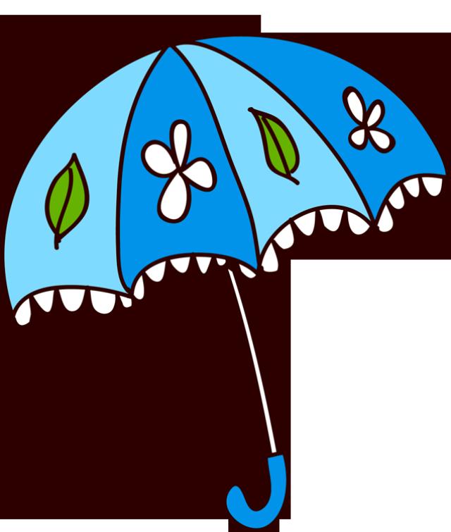 Pencil and in color. Clipart umbrella spring