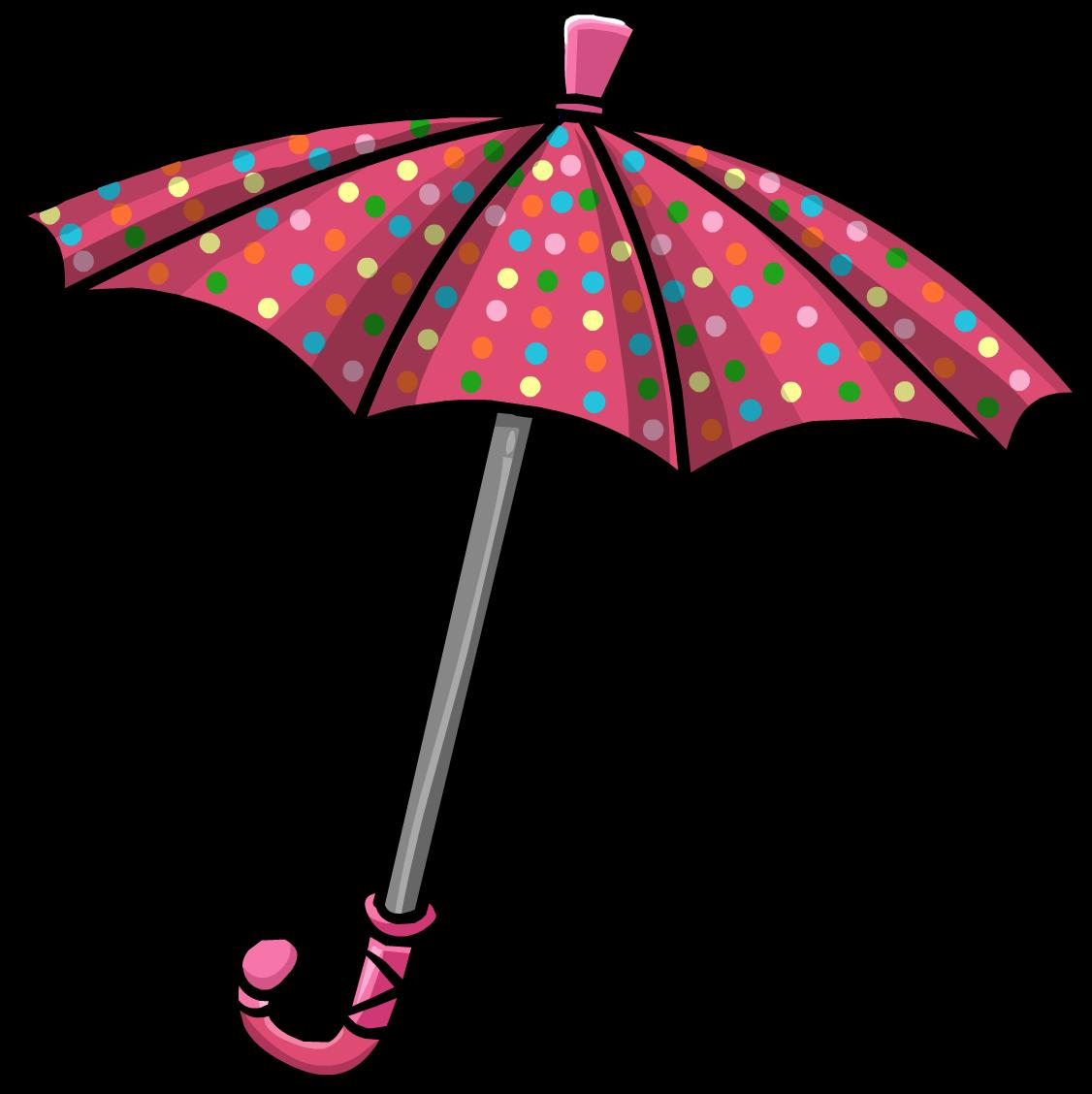 Clipart umbrella striped umbrella. Polka dot club penguin