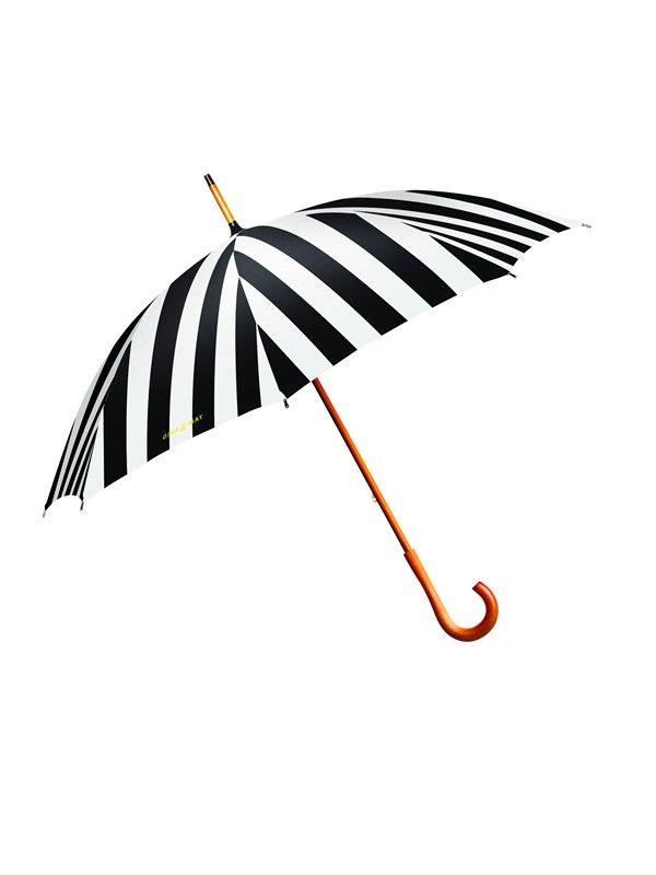 Black and white in. Clipart umbrella striped umbrella