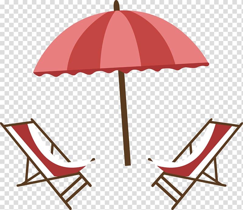 Clipart umbrella striped umbrella. Red beach lounge transparent