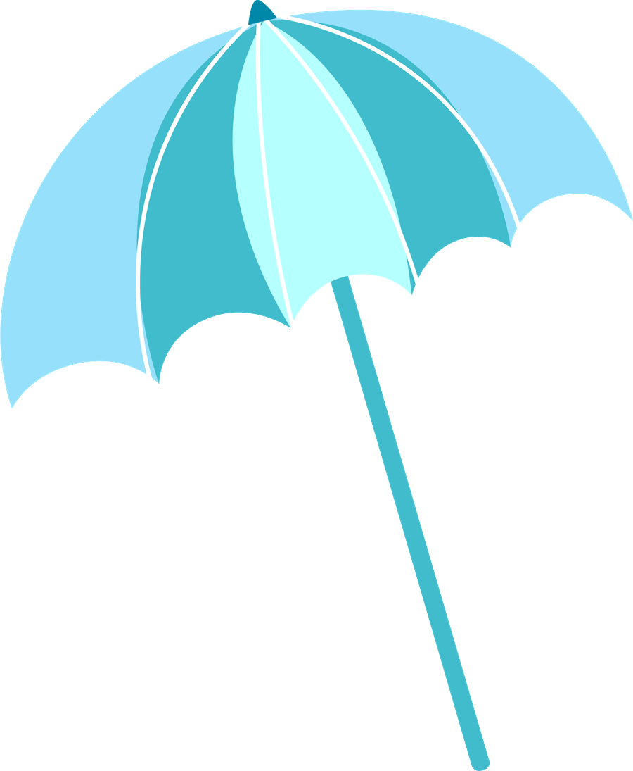 Clipart umbrella teal. Minus say hello scrapbook