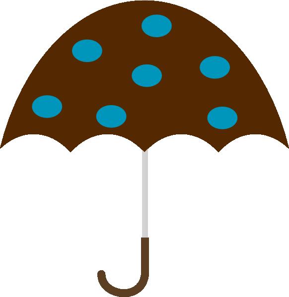 Polka dot clip art. Clipart umbrella teal