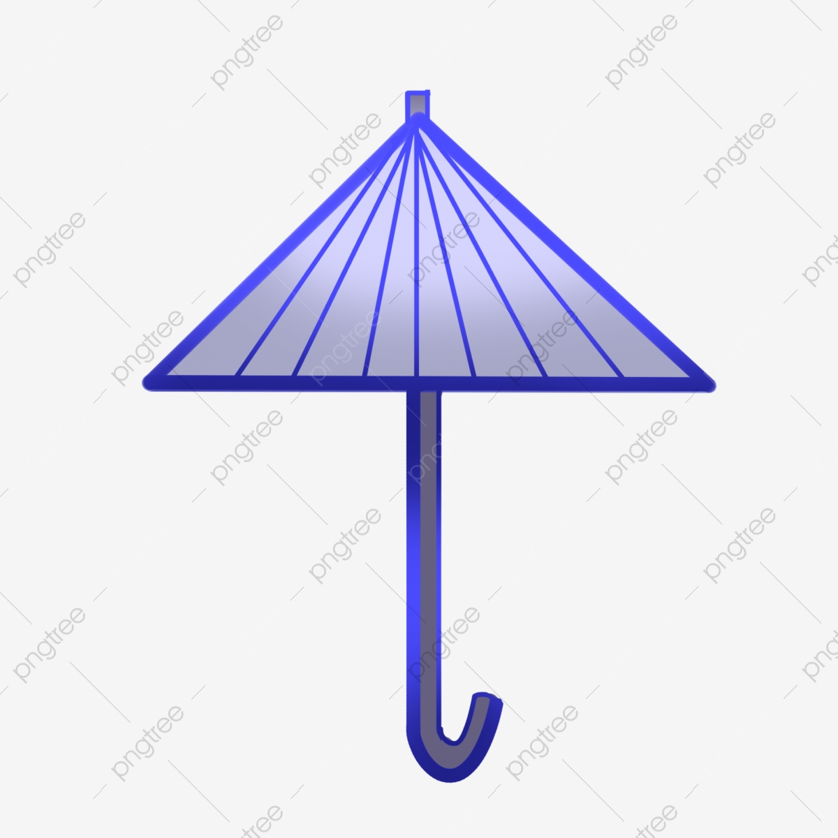 Triangle hand drawn illustration. Clipart umbrella triangular