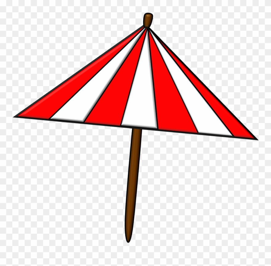 Clipart umbrella triangular. Beach pinclipart