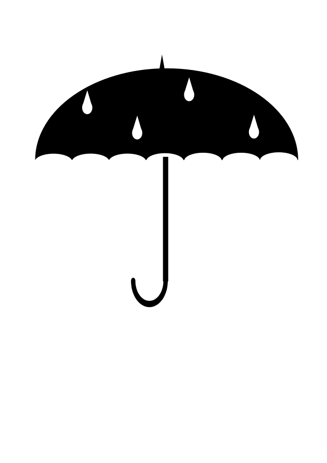 Black large size i. Clipart umbrella umbrellablack