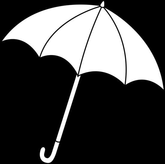 Clipart umbrella umbrellablack. Black and white