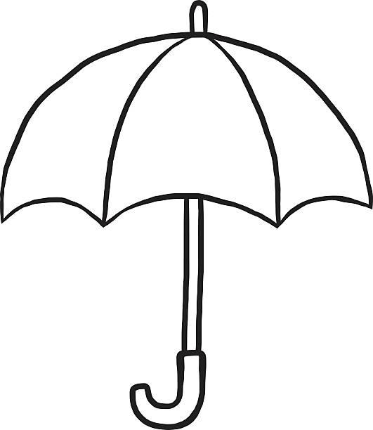 Clipart umbrella umbrellablack. Black and white free