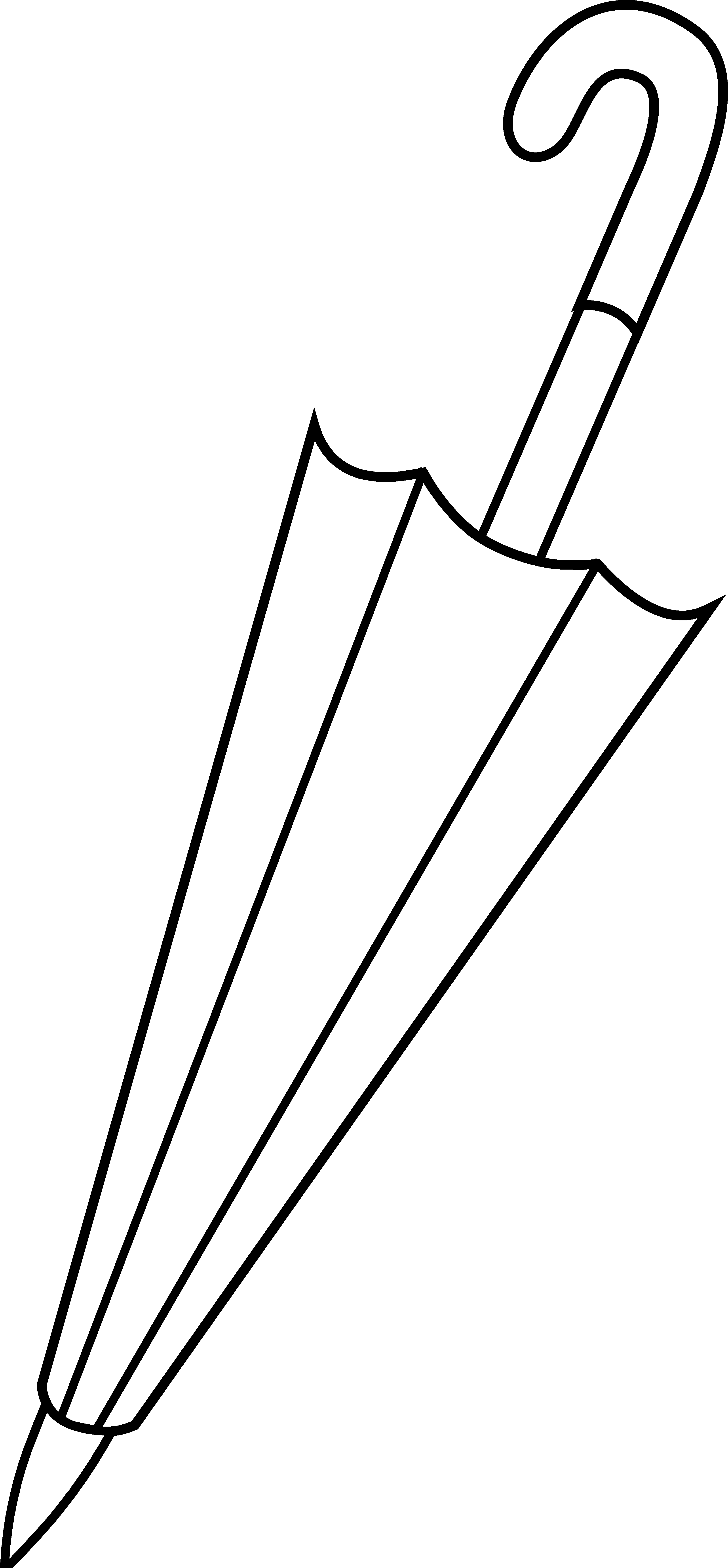 Closed line art free. Clipart umbrella vector