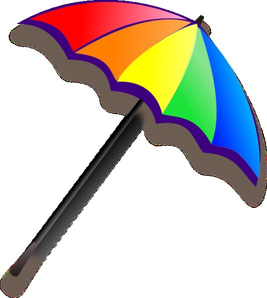 Clipart umbrella vector. Rainbow