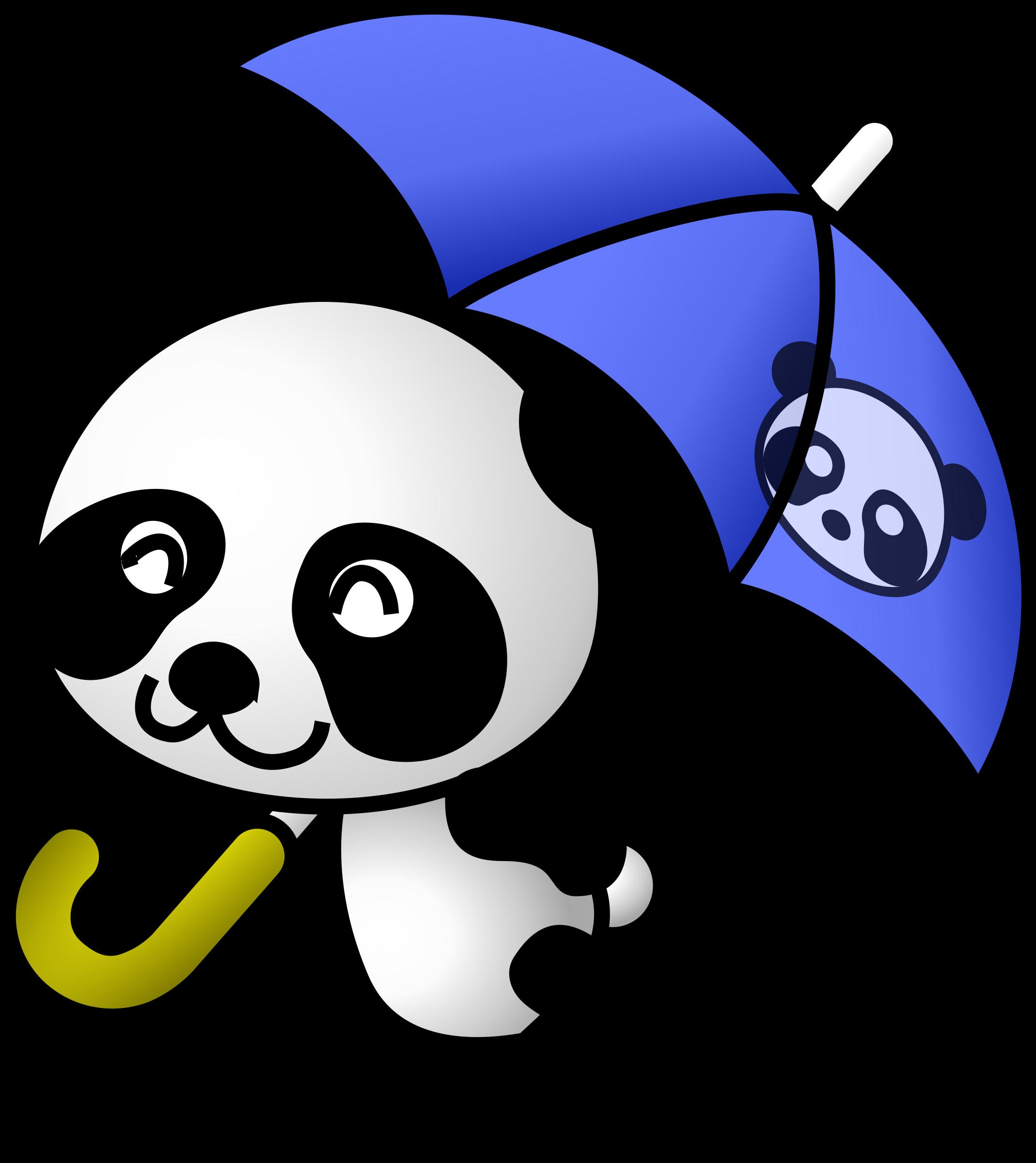 Clipart umbrella vector. Panda big image png