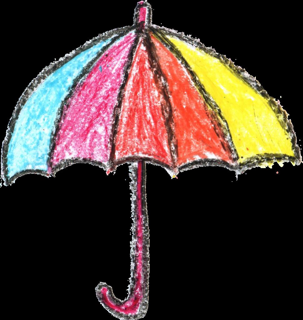crayon drawing png. Clipart umbrella watercolor