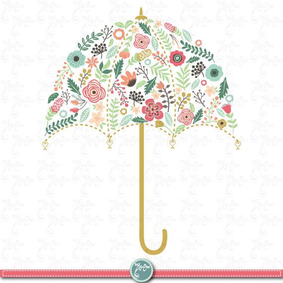 Clipart umbrella wedding. Pack flora clip art