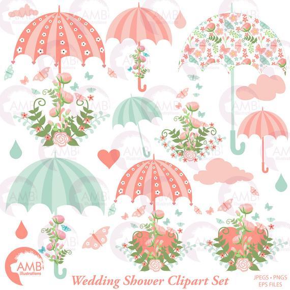 Clipart umbrella wedding. Bridal shower save the