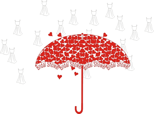 Shower bridal free . Clipart umbrella wedding