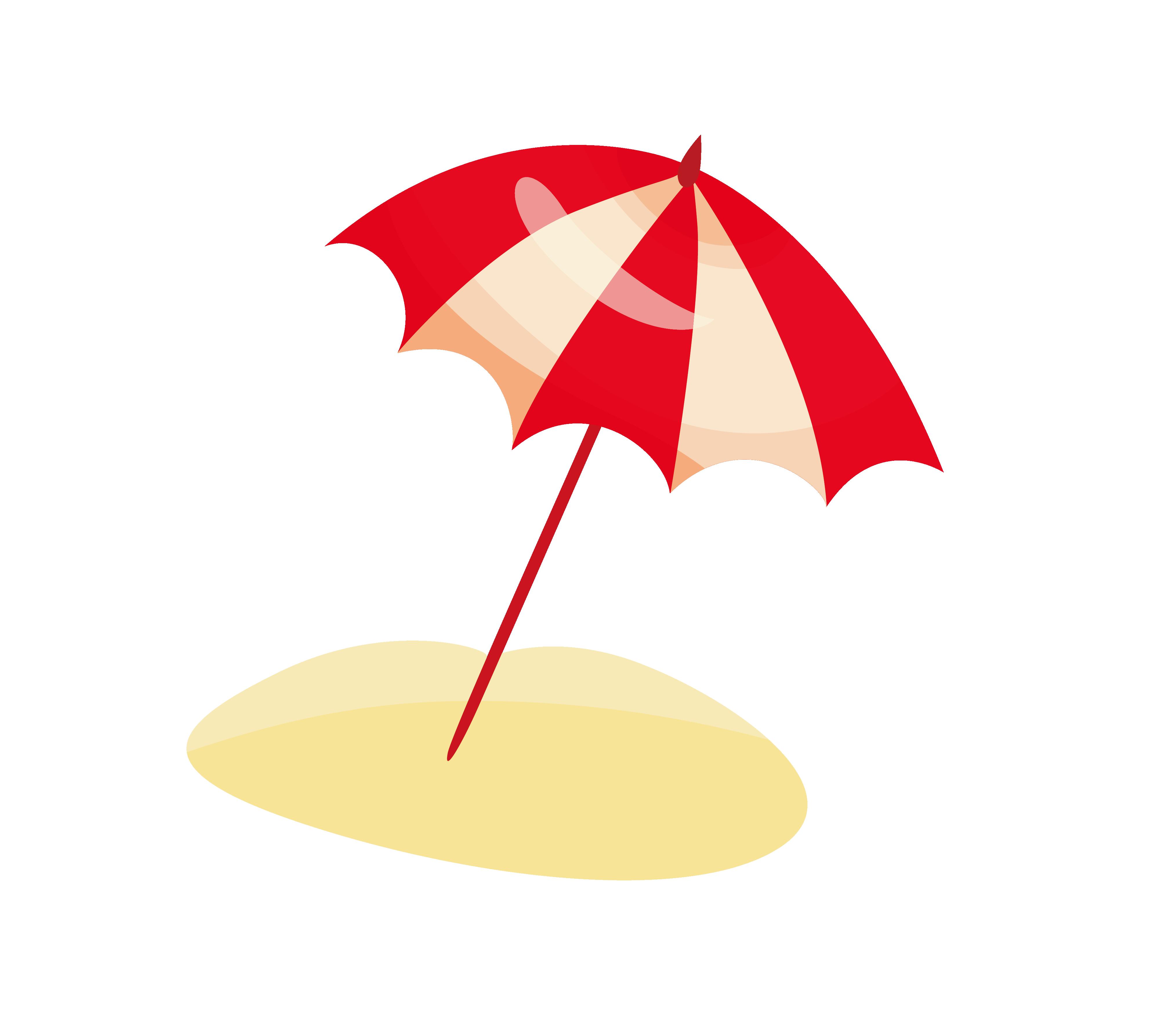 Watermelon clipart umbrella. Cartoon beach clip art