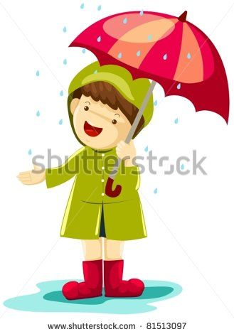 Umbrellas quenalbertini boy in. Clipart umbrella winter