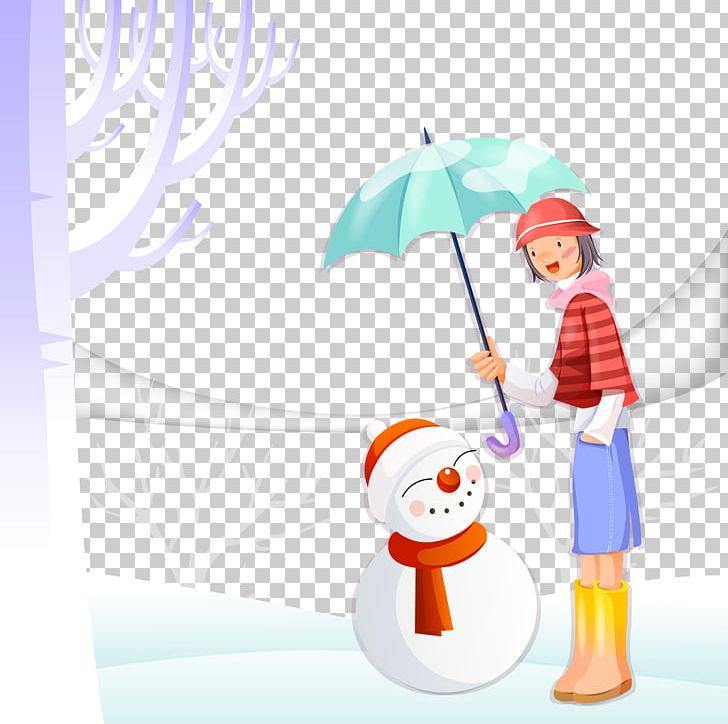 Clipart umbrella winter. Girl png clip art