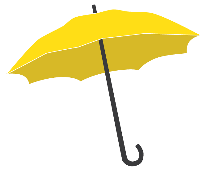 Partners . Clipart umbrella yellow umbrella