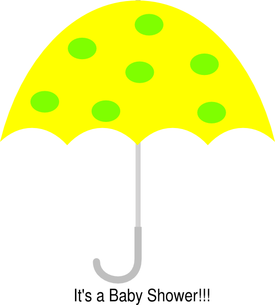 Clipart umbrella yellow umbrella. Polka dot clip art