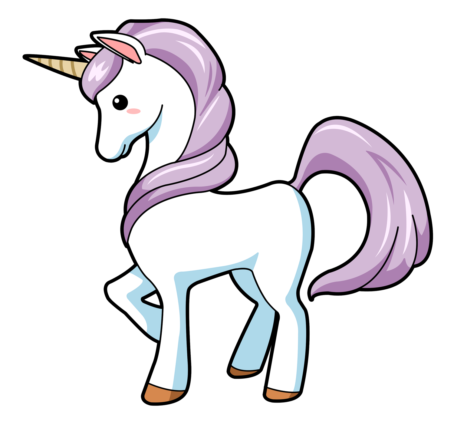Narwhal clipart purple. Free to use public