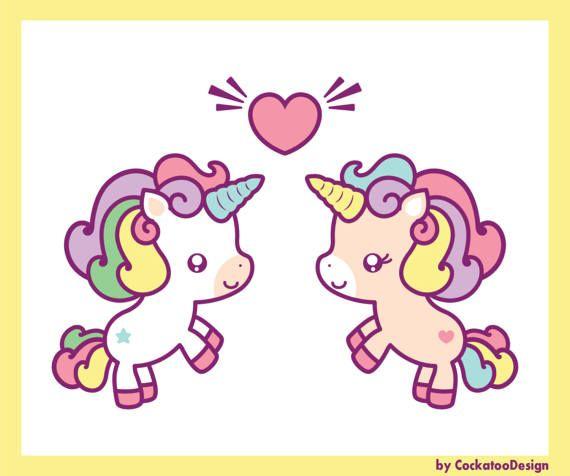 Cute clip art kawaii. Clipart unicorn