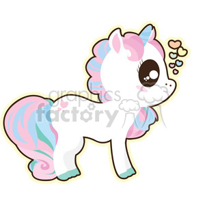 Clipart unicorn animated. Cartoon illustration clip art