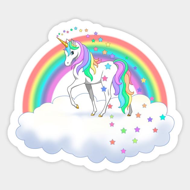 Pretty rainbow and stars. Clipart unicorn beautiful unicorn
