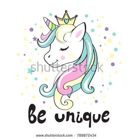 Clipart unicorn beautiful unicorn. Head and inscription be