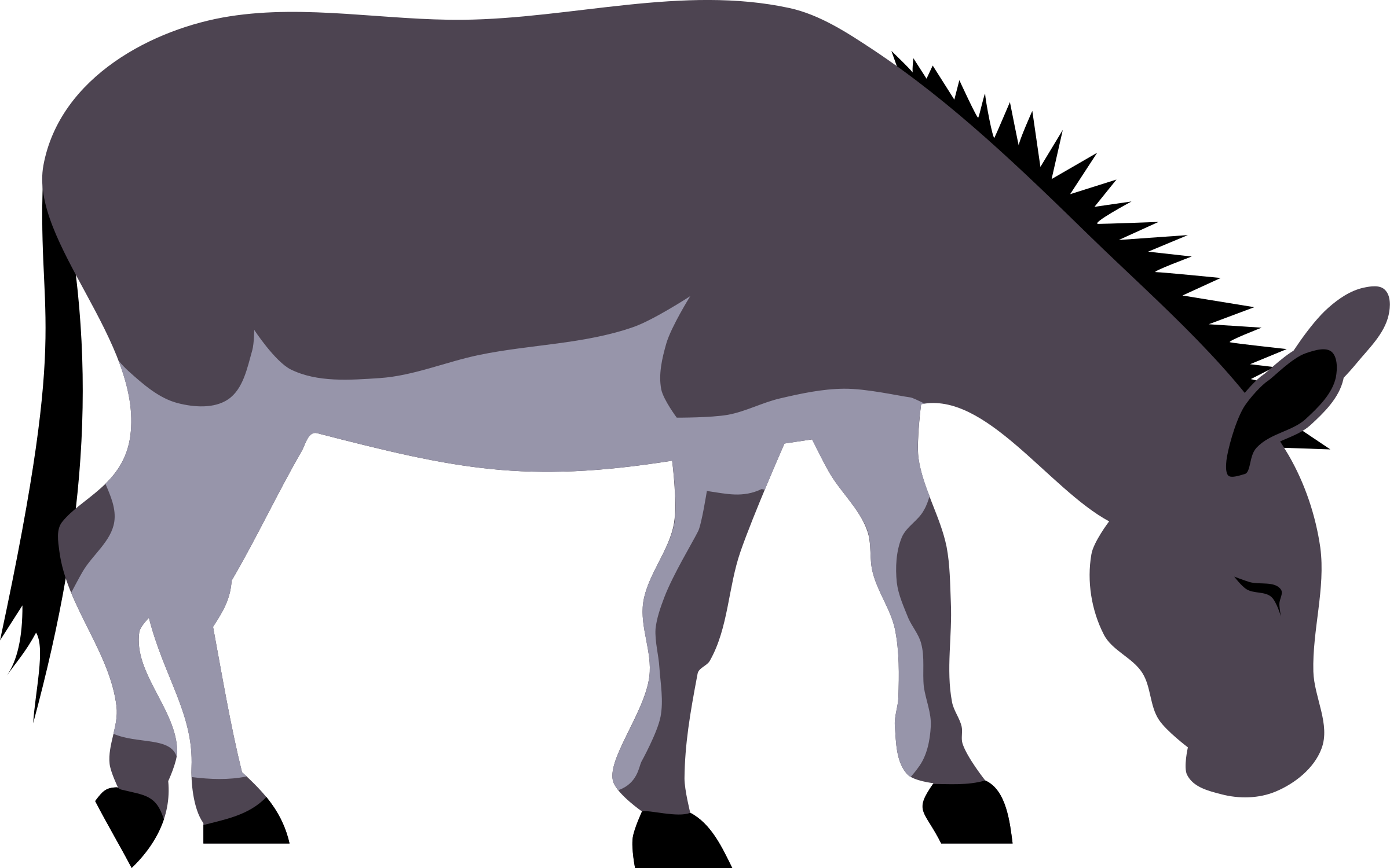 Silhouette donkey at getdrawings. Clipart unicorn bitmap