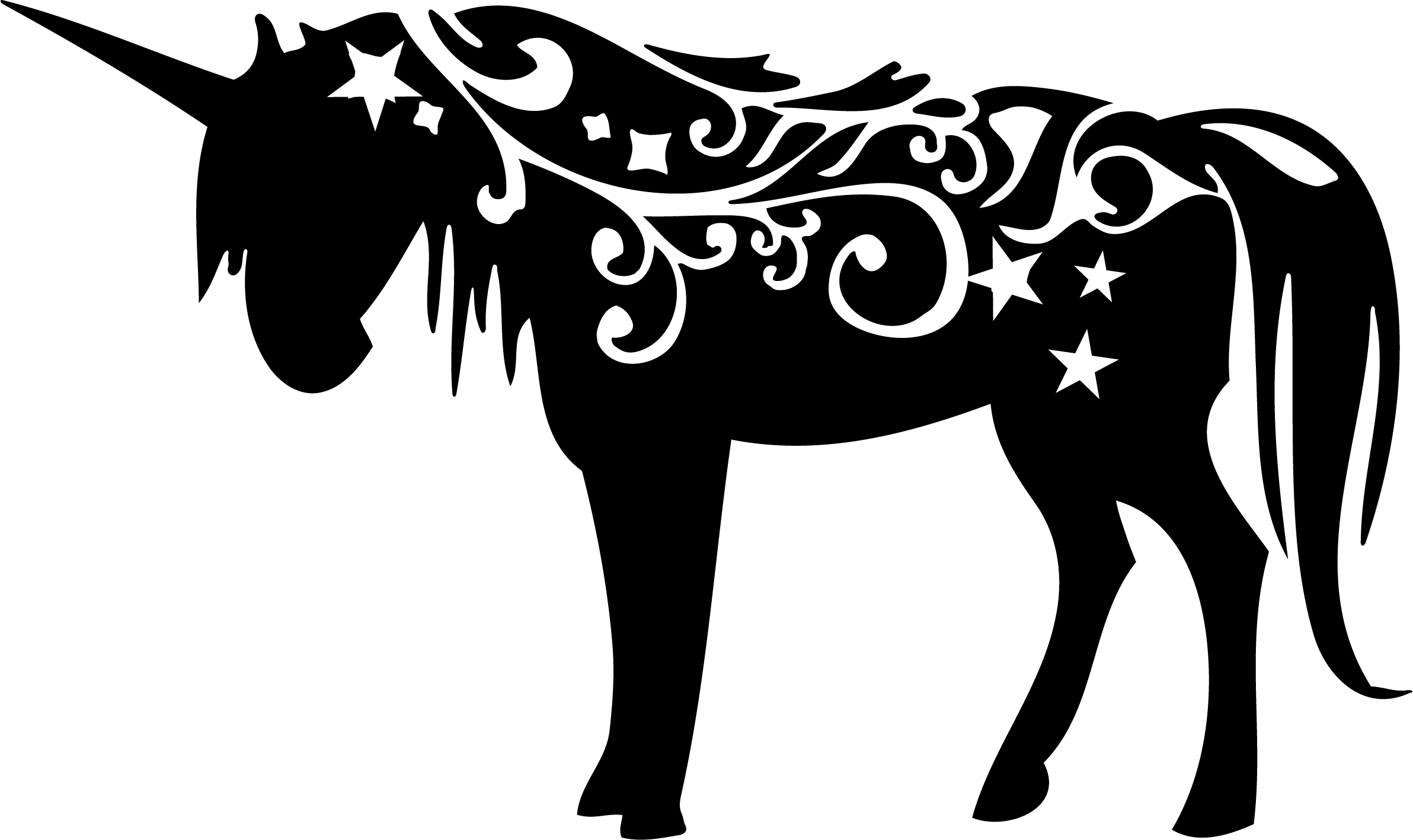 Clipart unicorn design. Silhouette all things fantasy