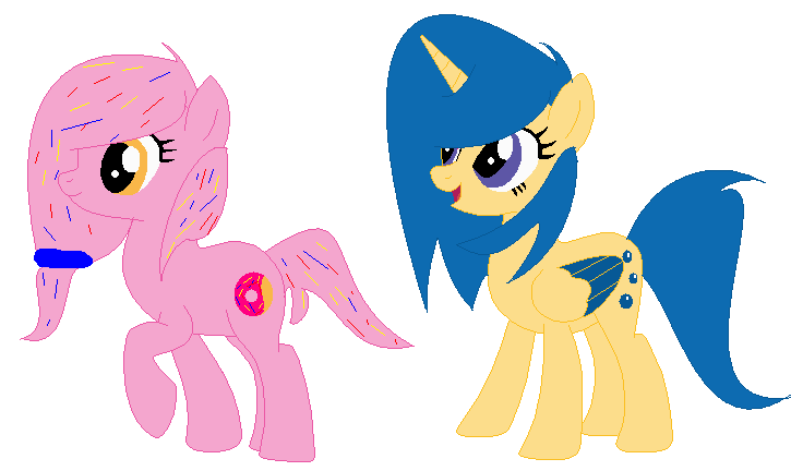 Donut clipart unicorn. Mlp and blueberry pie