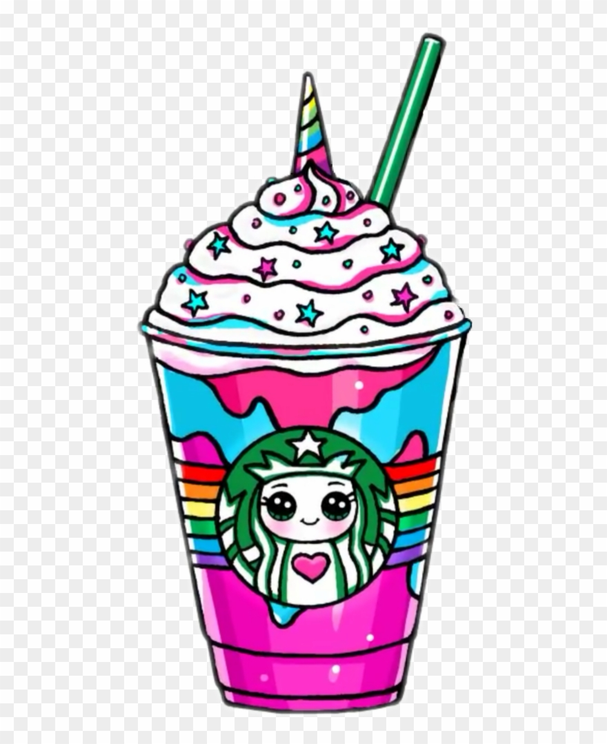Kawaii drink drinks unicorn. Starbucks clipart frappuccino clipart