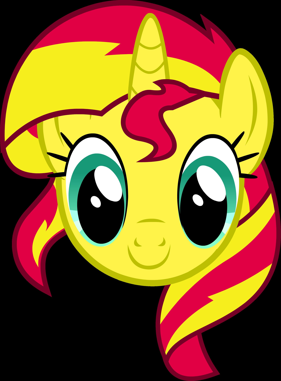 Mlp sunset shimmer headshot. Eyelashes clipart unicorn