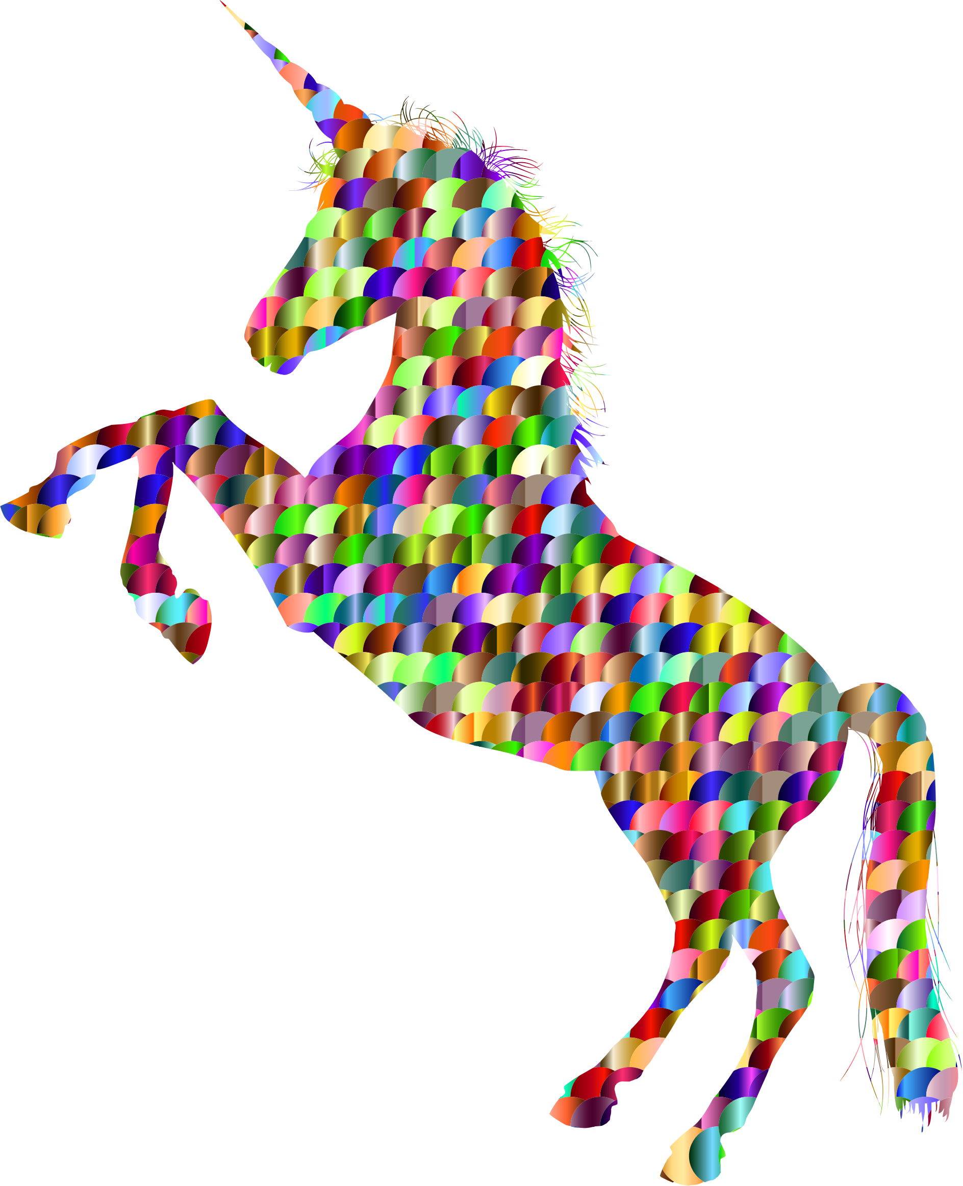 Gift clipart silhouette. Chromatic scales unicorn big