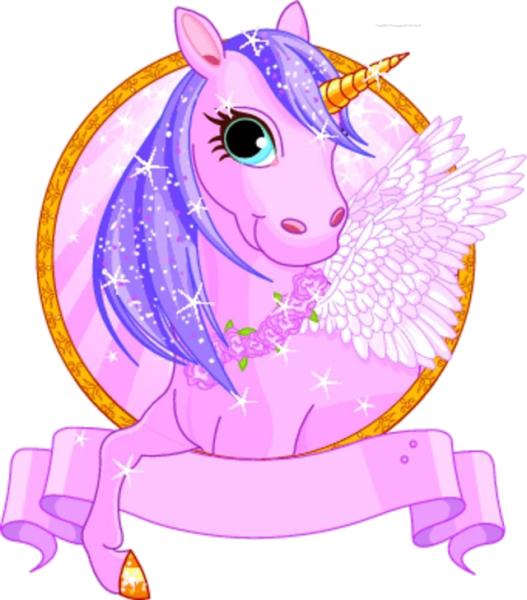 Fairytale clipart mythical beast. Unicorn cartoon fairy tale