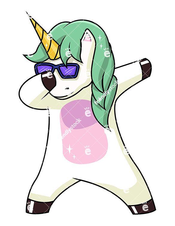 Clipart unicorn fictional. A dabbing clip arts