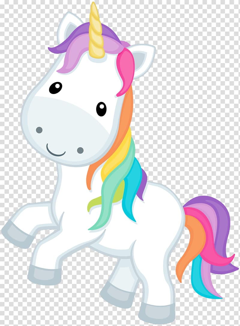 Face white and multicolored. Clipart unicorn fictional