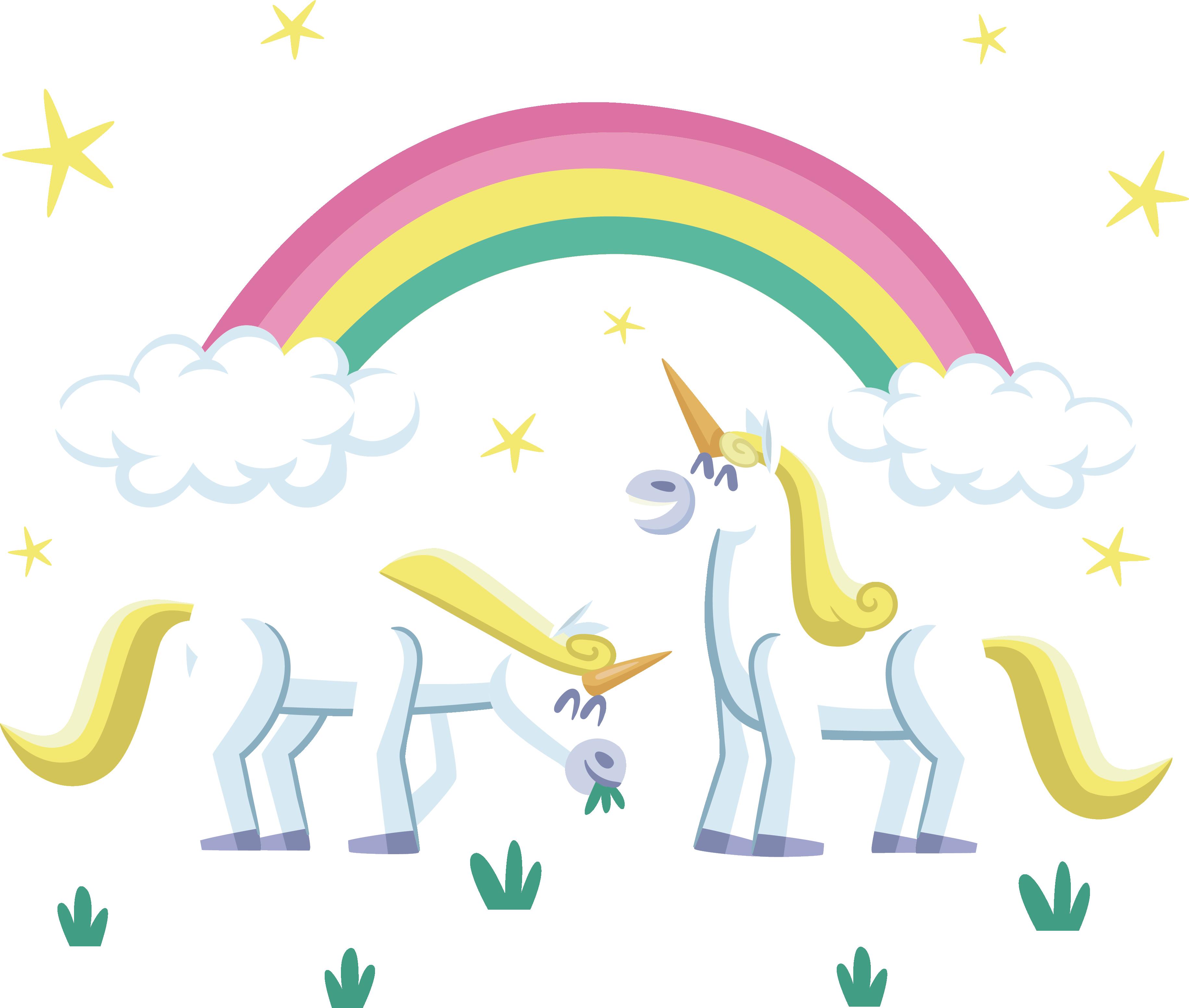 Clipart unicorn food. Rainbow clip art the