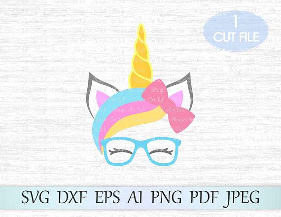 Head svg file face. Clipart unicorn glass
