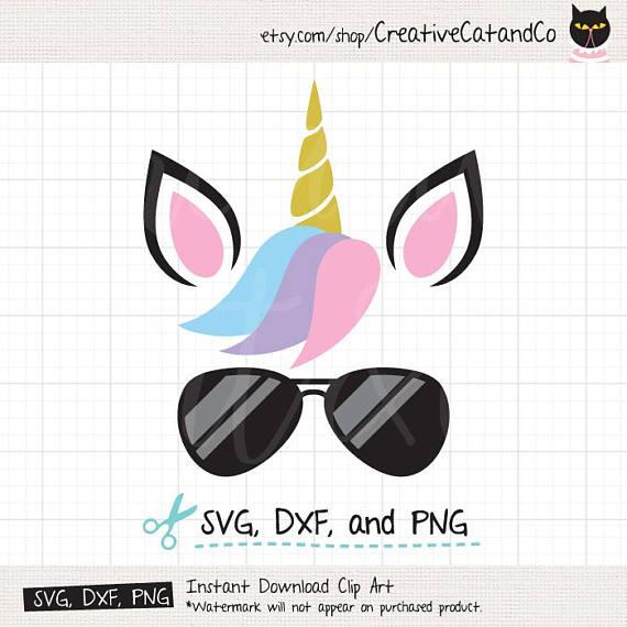 Clipart unicorn glass. Wearing sunglasses summer