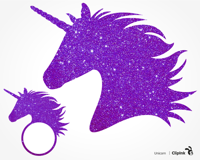 Svg png eps dxf. Clipart unicorn glitter