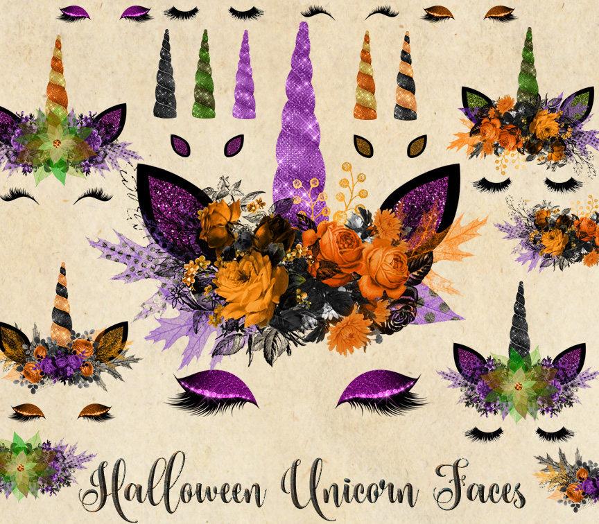 Clipart unicorn halloween.