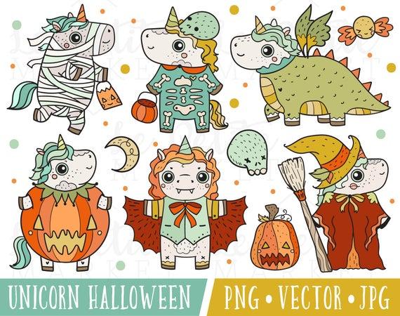 Clipart unicorn halloween. Images cute clip art