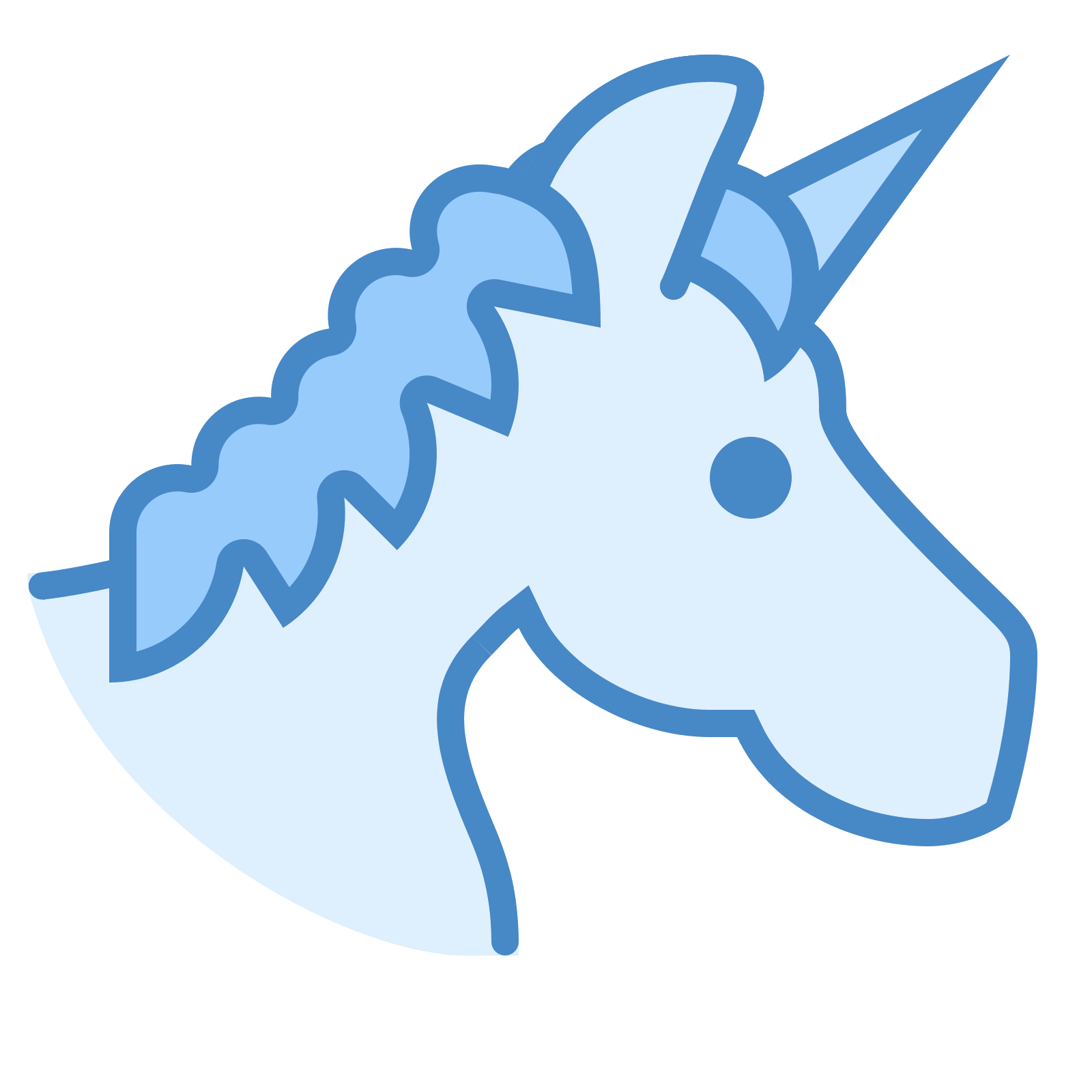 Icon free download png. Clipart unicorn light blue